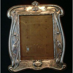 William Neale Art Nouveau silver photo frame. Rg 412187 Hallmarked Chester 1907.