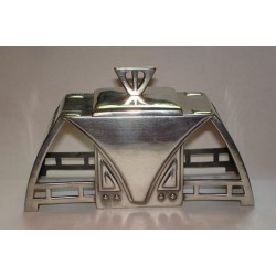 Genuine antique WMF silver plated inkstand. Model number 220. Stamped marks. Circa 1906