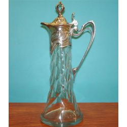 Antique WMF silver plated claret jug. Stamped marks. Circa 1900