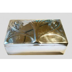Silver plated WMF box. Stamped marks. Circa 1900