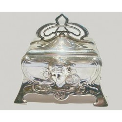 Silver plated WMF jewel casket. Stamped marks. Circa 1900