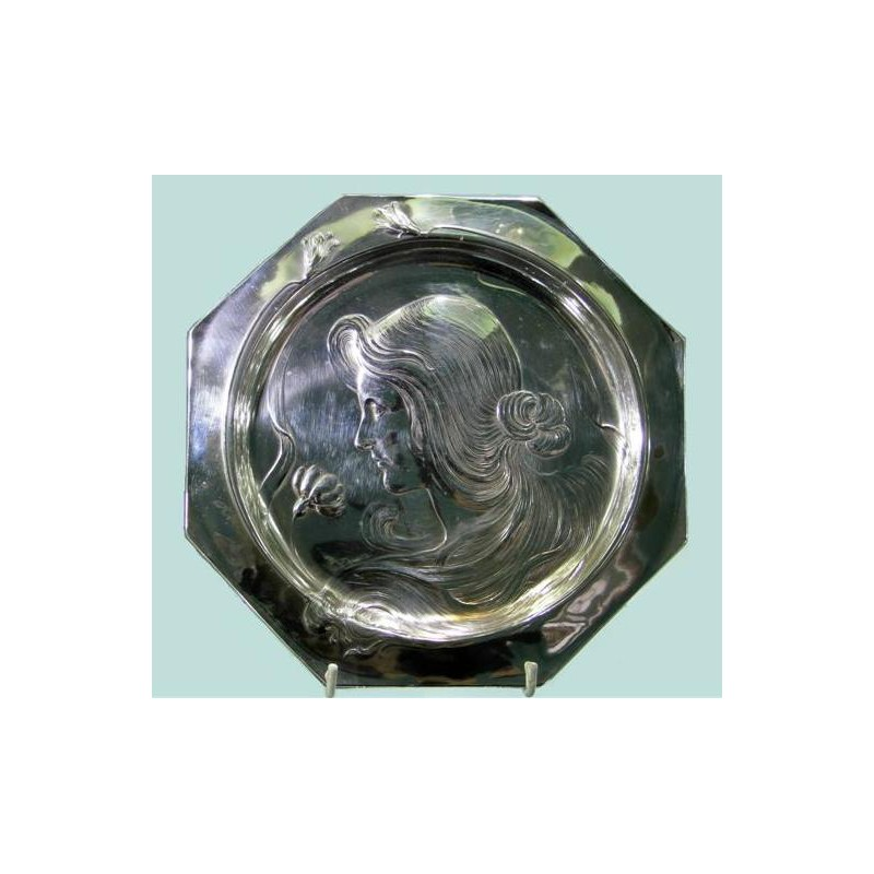 WMF Silver Plated Hexagonal Visiting Card Tray. WMF book page 169. Item 190. Circa 1900