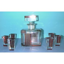 Art Deco Decanter Set Inc. Six Glasses (c.1935)