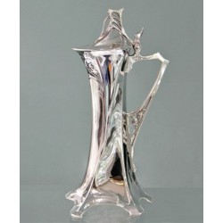 Silver plated WMF wine jug. Stamped marks. (c.1900)