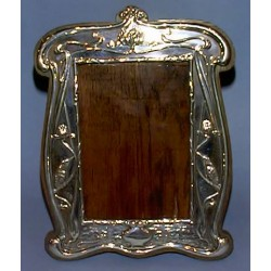 Antique silver frame with oak back. H M Chester. Circa 1901