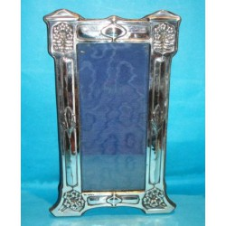 Antique silver Art Nouveau photograph frame. Hallmarked Birmingham 1907.
