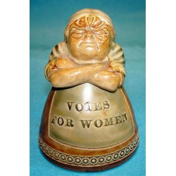 Royal Doulton Suffragette Movement Novelty Inkwell. Circa 1920