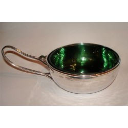 Charles Robert Ahbee silver porringer set with oval cabochon (c.1906)