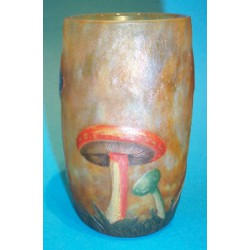 Rare antique Daum Mushroom Vase. Signed to base (c.1900)