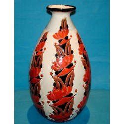 Sambi Llotte Belgium Ceramic Art Deco Vase. Signed and dated 1926