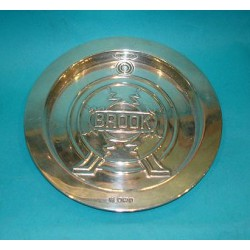 Silver dish advertising Brooks radio. Hallmarked 1925