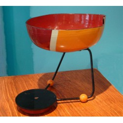Modernist Fruit Bowl mixed media metal, Bakelite and Papier-Mache. English. Mid 1950s