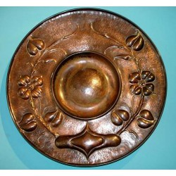 Copper Arts & Crafts charger. Possibly Birmingham Guild. Circa 1900