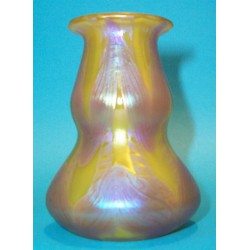 Antique Loetz Yellow and Lilac Vase. Austrian (c.1900)