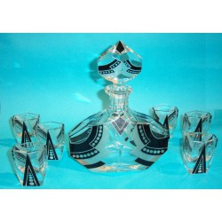Art Deco Decanter Set with...