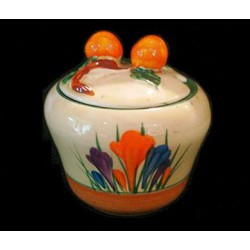 Clarice Cliff Crocus Jam Pot. Circa 1935