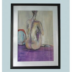 Allissia De Lucy Seated Nude. Mixed Media. British Artist and Sculpture. Circa 1988