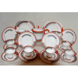 Eric Slater for Shelley Art Deco twenty three piece tea set. Circa 1933