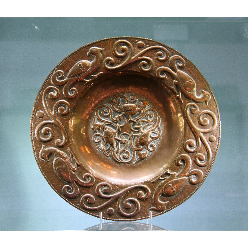 John Pearson copper wall plaque signed and dated 1897 number 2345.