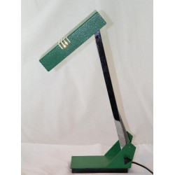 Mid Century modernist wrought iron and chrome Anglepoise desk lamp.