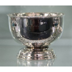 Liberty & Co Cymric silver bowl with turquoise cabochons. Hallmarked Birmingham 1905