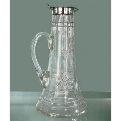 Hukin & Heath silver and cut glass decanter. Hallmarked Birmingham 1920