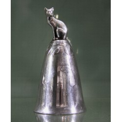 Antique Kayserzinn pewter cat bell. Stamped marks Number 4601. Circa 1905