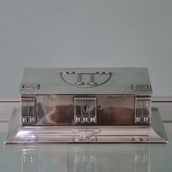 Silver plated WMF Secessionist Jewel Box with Original Lined Interior (c.1900)