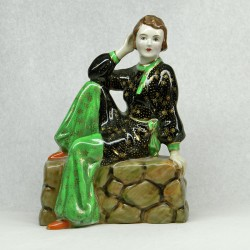 Rare Art Deco Tuscan China Figure Beach Girl (c.1937)