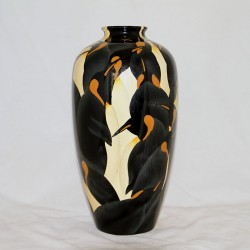 Ceramic Art Deco vase decorated with penguins, in the manner of Charles Cotteau. (c.1930)