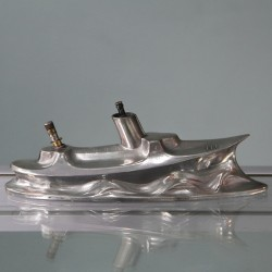 Rare Pewter Boat Table Cigar Lighter by Kayserzinn (c.1900)