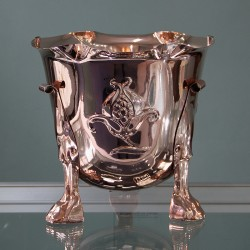 Arts and Crafts Copper Jardiniere with Stylised Flowers to Three Sides (c.1900)
