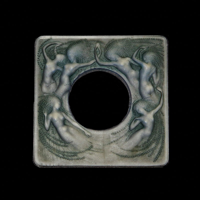 Rene Lalique (1860-1945) Naiades opalescent photo frame. Impressed R Lalique, Scripted Franc (c.1930)