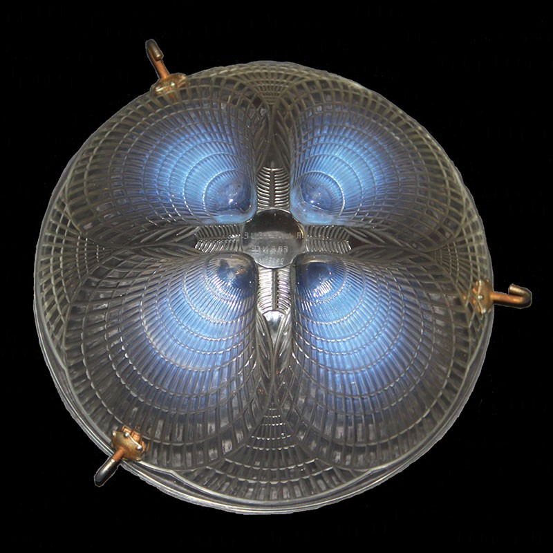 Rene Lalique (1860-1945) Coquille Plafonnier glass light shade impressed R Lalique France. Condition perfect (c.1925)