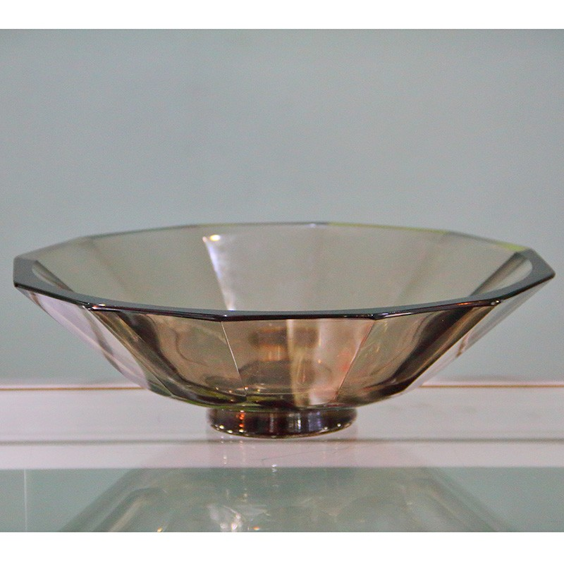 Orrefors Smokey Amber Glass Bowl (c.1939)