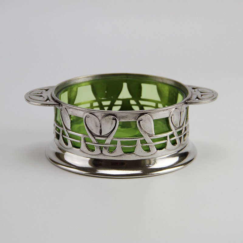 Archibald Knox for Liberty and Co. Pewter Bowl with Green Glass Liner (c.1904)