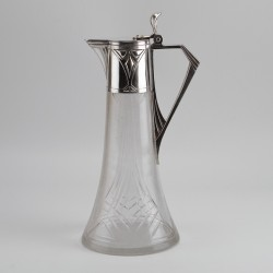 WMF Silver Plated Claret Jug with Original Cut Glass Liner (c.1906)