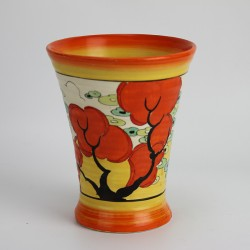 Clarice Cliff Bizarre Orange Erin vase. Signed to base Bizarre by Clarice Cliff Made in England (c.1933)