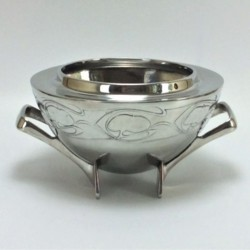 Archibald Knox for Liberty & Co Tudric pewter rose bowl. Stamped marks to base with Tudric. (c.1903)