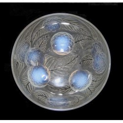R Lalique Dahlias Opalescent Glass Bowl (c.1921)
