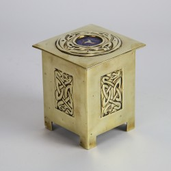 Glasgow School Scottish Arts and Crafts Brass Tea Caddy (c.1900)