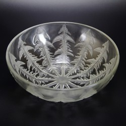 Antique Rene Lalique 'Pissenlit' (Dandelion leaves) bowl (c.1921).