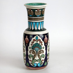 Burmantofts Fine Faience Persian Vase Designed by Leonard King. (1895).