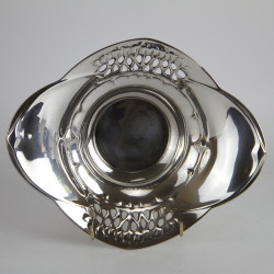 Urania Art Nouveau Pewter Bowl Attributed to Friedrich Adler (c.1900).