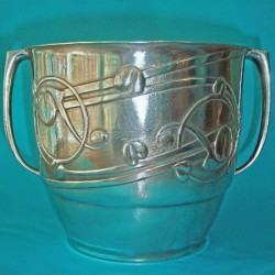 Archibald Knox for Liberty & Co pewter ice bucket. Stamped marks - Tudric 0706 (c.1903)