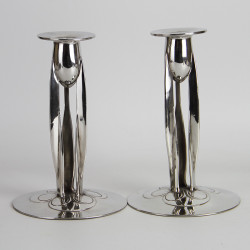 Archibald Knox for Liberty & Co Pewter Candlesticks (c.1903)