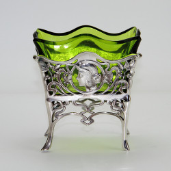 WMF Art Nouveau Silver Plated Sugar Basket. (Circa 1900).