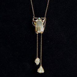 Art Nouveau Antique 9ct Gold Blister Pearl Turquoise and Pearl Necklace. (c.1900)