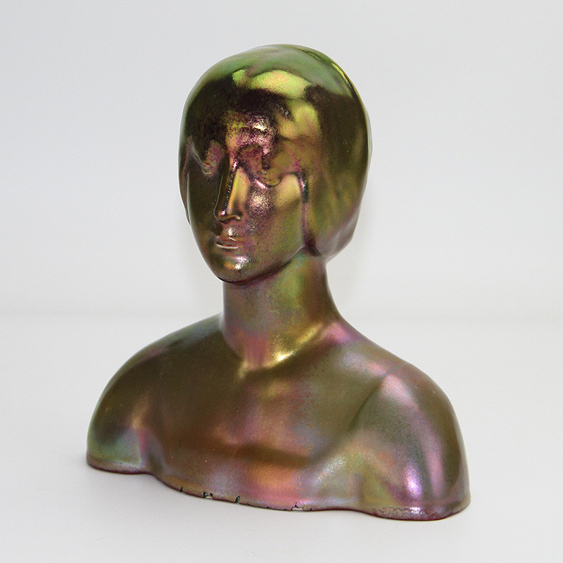Art Deco Lustre female bust attributed to Denbac Metenier. French. (c.1920).