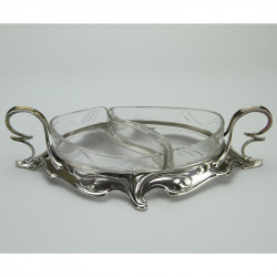 WMF Silver Plated Preserve Stand With Original Glass Liners (c.1900)